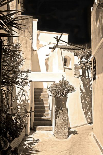 Alleyway In Capri Italy