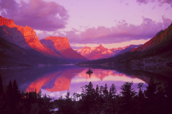 Sunrise Over  St. Mary Lake