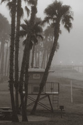Oceanside, California early morning fog