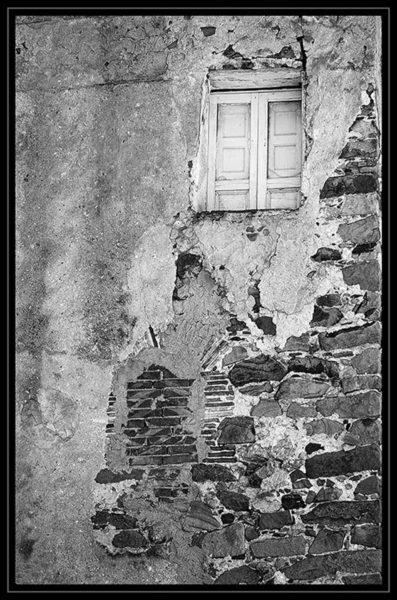 Italian window and wall