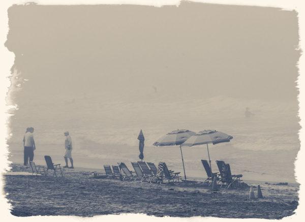 Oceanside, California early morning fog