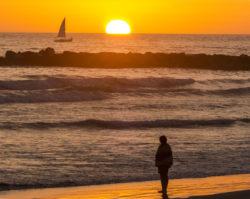 Sunset in Oceanisde